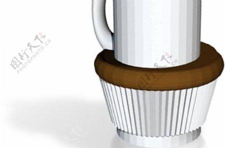 实纸杯蛋糕杯咖啡的所有文件