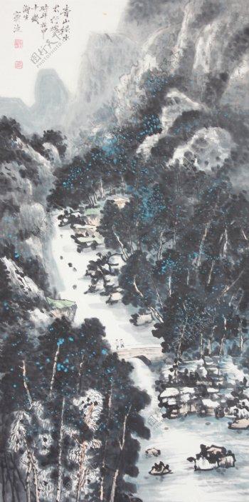 中国画山水