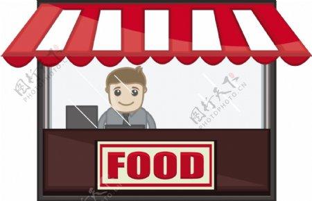 食品店卡通商业矢量字符