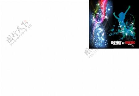 动感光线舞蹈美女花纹音乐背景图片