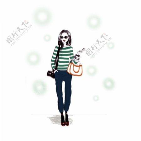 位图插画时尚插画人物插画插画师免费素材