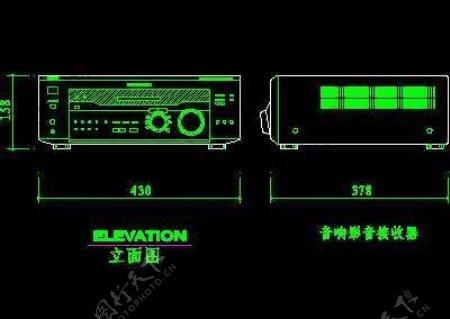 电视机图块视听设备图块影院音响组合图块电脑CAD图块29