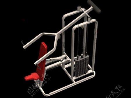 文化体育用品3d健身器材模型电器模型3