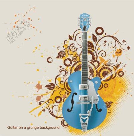 吉他乐器音乐背景