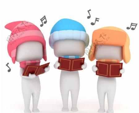 唱歌的孩子图片