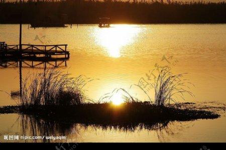 沙家浜夕阳图片