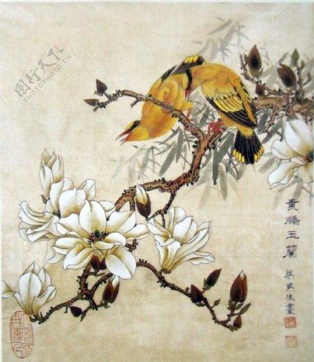 国画山水花鸟图片