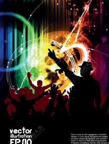 舞会派对音乐背景图片