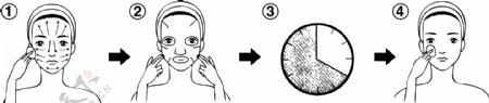 脸部保养方法图片