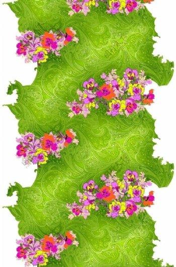 漂亮花卉雪纺印花图案图片