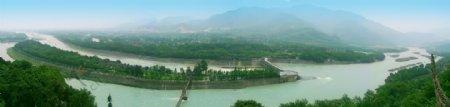 都江堰全景图片