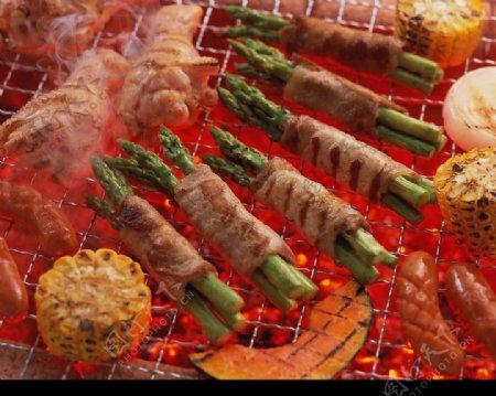 碳烤肉片包菜图片