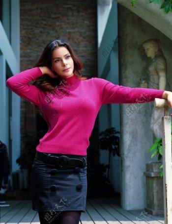 国外美女模特欧美女模特时尚长发美女人物图库摄影图库图片