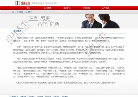 公司网站设计中文模板22图片