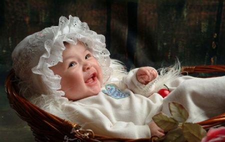婴儿摄影图片