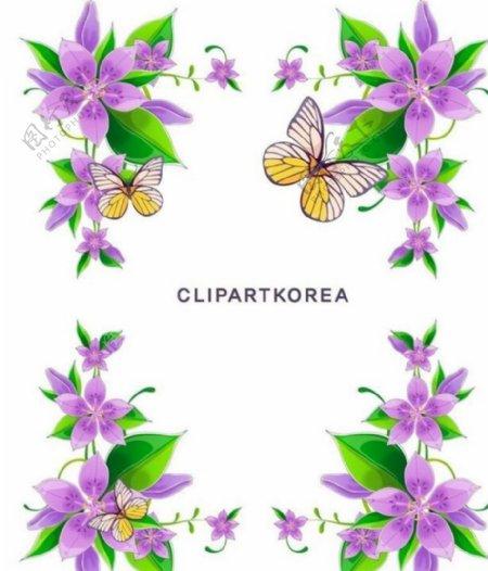 紫色蝴蝶花框