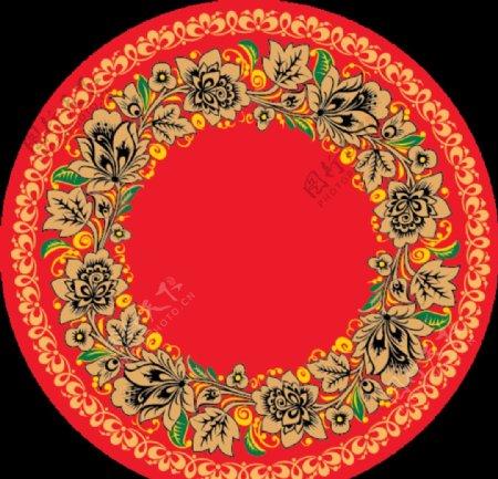 漂亮圆形花纹矢量素材