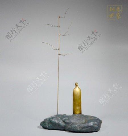 传统文化禅系列纯铜家居摆件图