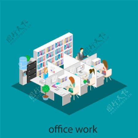 隔断式办公室设计图片