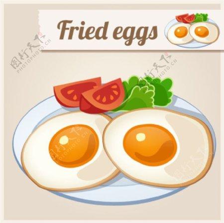 盘里的新鲜鸡蛋图片