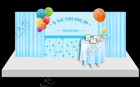 生日宴会背景板