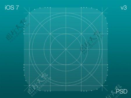 IOS7线条界面PSD分层素材
