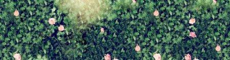 植树节树叶海报