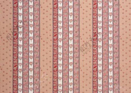 粉色花朵条纹壁纸图片