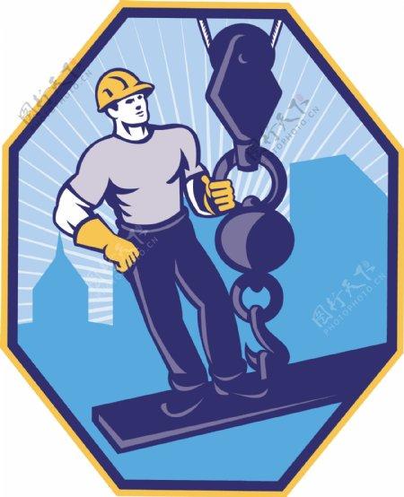 建筑工人工字钢球挂钩
