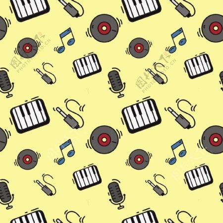 音乐素材图案