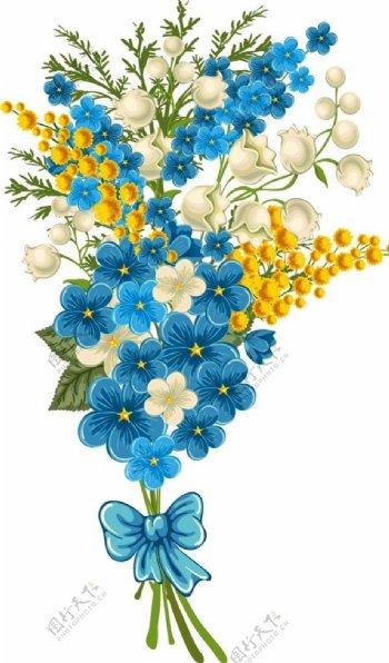 矢量鲜花花束