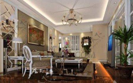 欧洲风格的精致小客厅