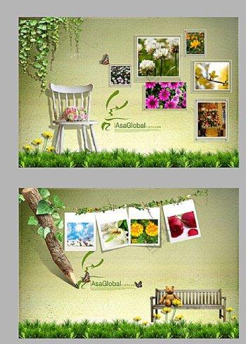 春天背景照片墙图片