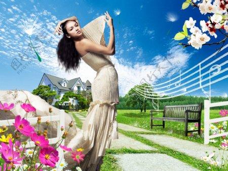 现代生活广告人物分层插画PSD格式0050