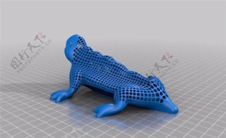 镂空蜥蜴3D打印模型