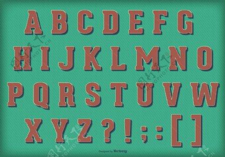 复古复古矢量字母