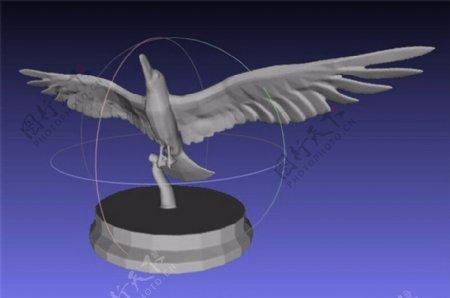 空间三维立体鸟3D打印模型