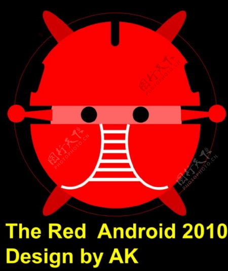 Android红色的机器人机器人bujung