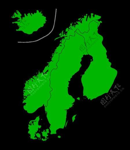 斯堪的纳维亚地图