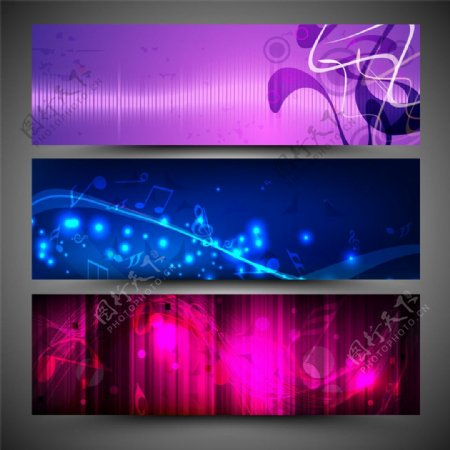 矢量音乐背景素材图片