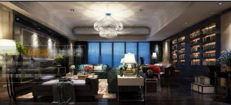 客厅空间3D模型素材下载