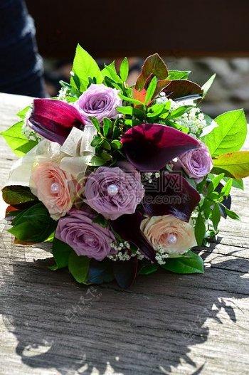 美丽的婚礼花束