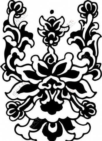 清代下版画装饰画中华图案五千年矢量AI格式0771