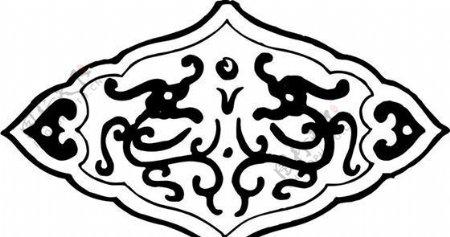 清代下版画装饰画中华图案五千年矢量AI格式0488