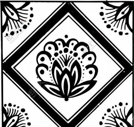 清代下版画装饰画中华图案五千年矢量AI格式0788