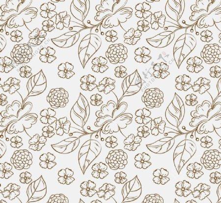 素色花纹窗帘背景图