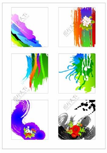 笔刷设计应用背景图案矢量素材AI格式0331