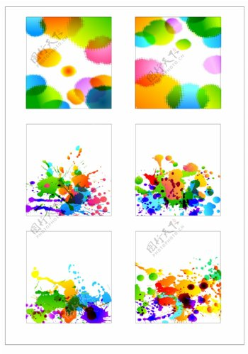 笔刷设计应用背景图案矢量素材AI格式0342