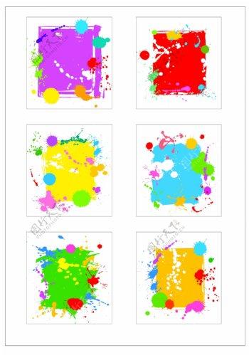 笔刷设计应用背景图案矢量素材AI格式0358