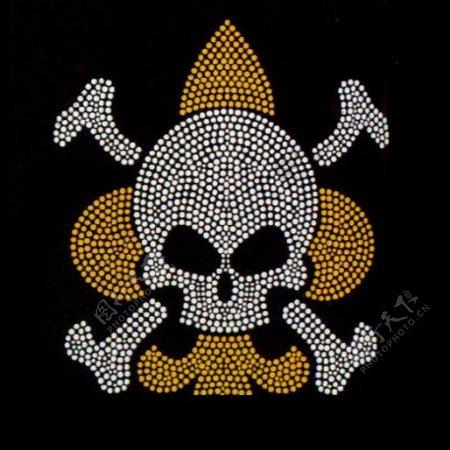 烫钻符号骨头骷髅灵异免费素材